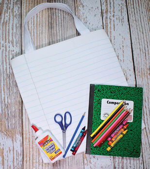 """How To Make A """"Notebook Paper"""" Waterproof Tote"""