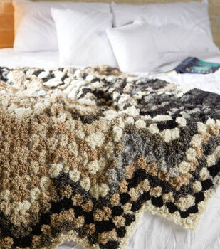 Variegated Boucle Blanket