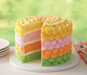 Citrus Colored Cake