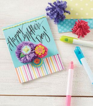 Folded Pompom Mother's Day Card