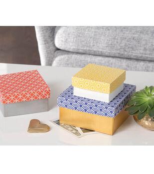 Paper Mache Box Trio
