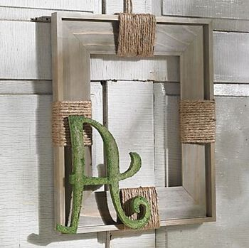 Moss Letter Wreath with Jute