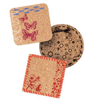 Stamped Cork Coasters
