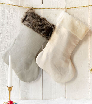 How To Make Fur Trimmed Stockings