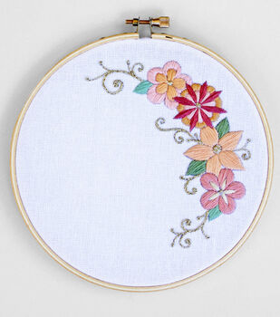 How To Make A Spring Floral Embroidery