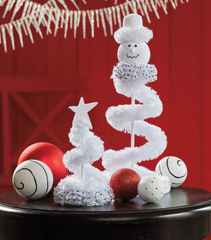 How To Make A Spiral Snowman & Tree