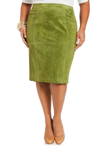 Genuine Suede Pencil Skirt
