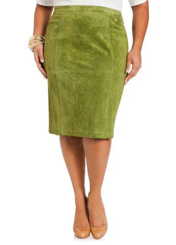 Genuine Suede Pencil Skirt