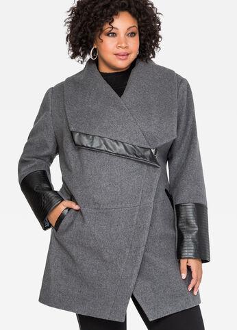 Oversized Collar Wool Winter Coat