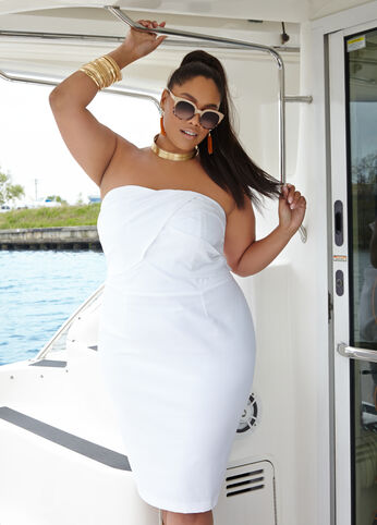 Plus Size Outfits - Just Right in Gold and White