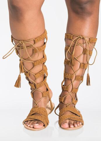 Vara Braided Gladiator Sandal - Wide Width