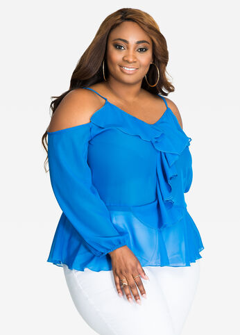 2f67a3d5a4f5f Buy Womens Plus Size Sheer Tops - Ashley Stewart