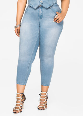 Light Wash Ankle Jean