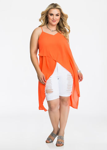 High Slit Flyaway Top 402009946561