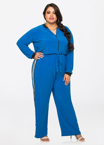Athletic Stripe Jumpsuit