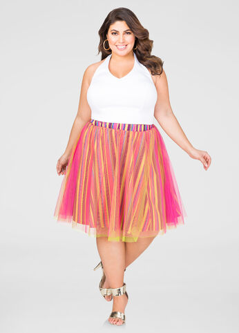 Striped Tulle Skirt