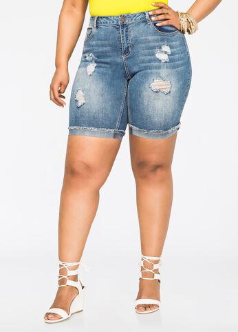 Destructed Bermuda Jean Short