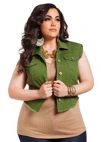 Olive Hi-Lo Vest