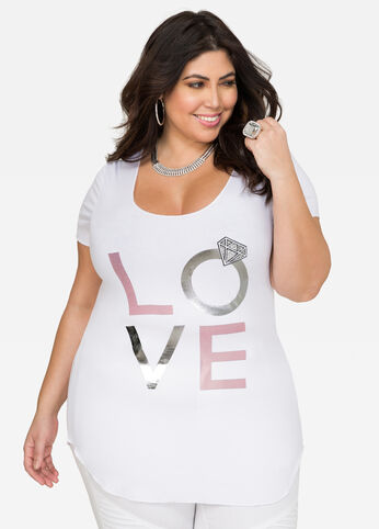 Love Hi-Lo Bridal Tee 402009861925