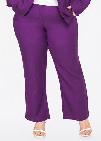 Scoop Pocket Linen Pant Purple Magic - Bottoms