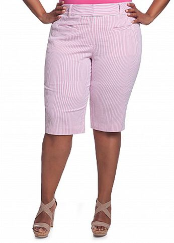 Double Ticking Striped Short