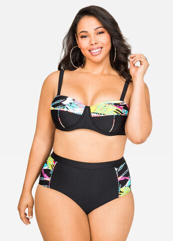 Splatter Underwire Bikini Top Multi - Swim