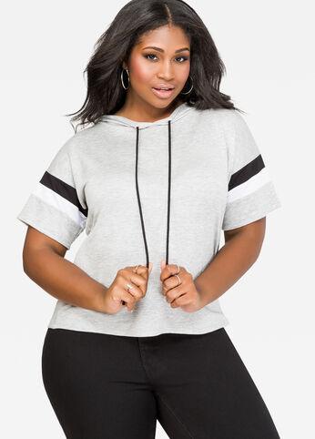 Athletic Stripe Sweatshirt Hoodie