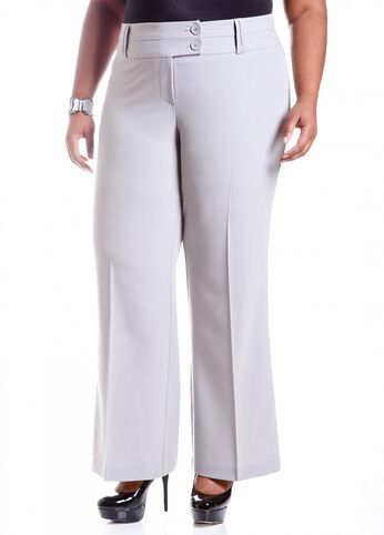 Double Button Embellished Pant