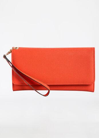 Flap Front Wallet Orange - Accessories
