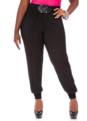 Lace Up Belt Soft Pants