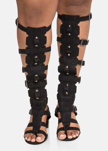 Block Heel Gladiator - Wide Calf, Wide Width