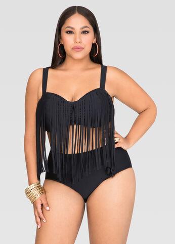 Fringe Underwire Bra Bikini Top