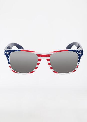 Square Frame Americana Wayfarer Sunglasses
