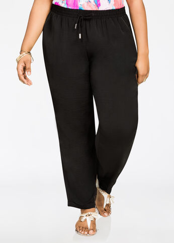 Satin Jogger Black - Bottoms