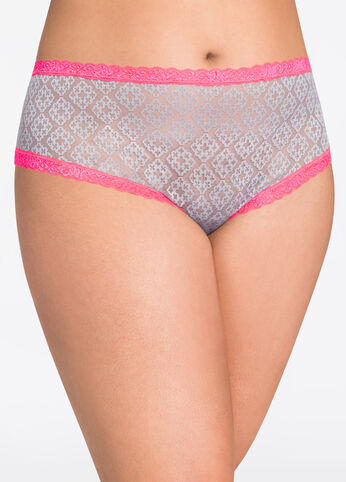 Geo Lace with Contrast Trim