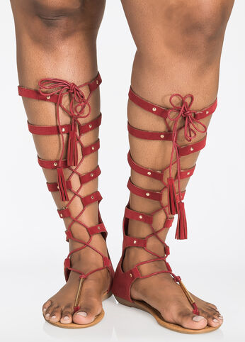 Islana Lace-Up Gladiator Sandals - Wide Width