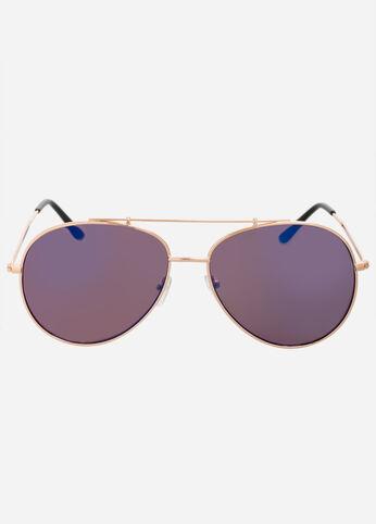 Mirrored Lens Aviator Sunglasses