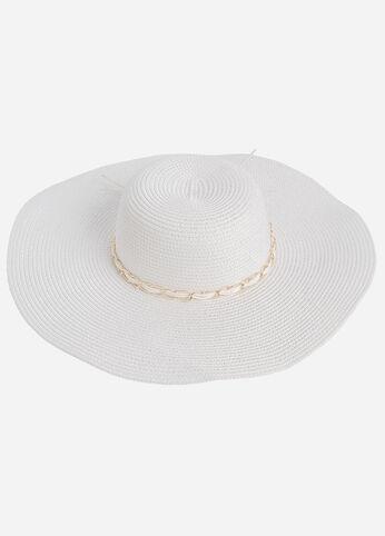Gold Accent Wide Brim Sun Hat