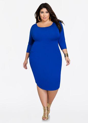 Deep Back Ruched Side Dress