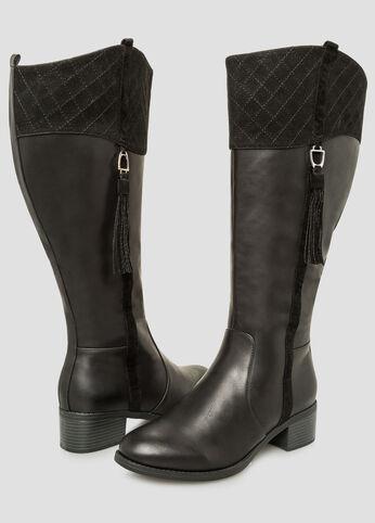 Tassel Riding Boot - Wide Calf, Wide Width