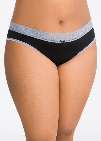 Lace Back Micro Bikini Panty