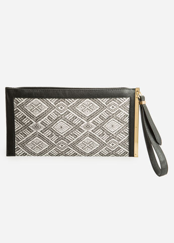 Chevron Bar Clutch Wristlet