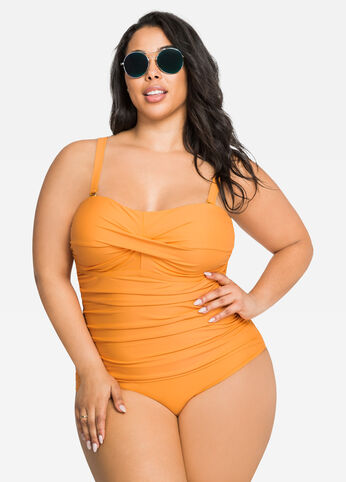Ruched Side Bandeau Swimsuit
