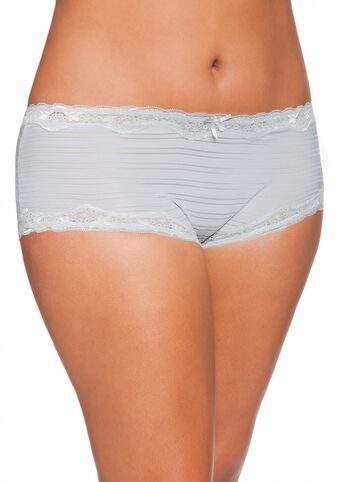 Shadow Striped Lace Brief