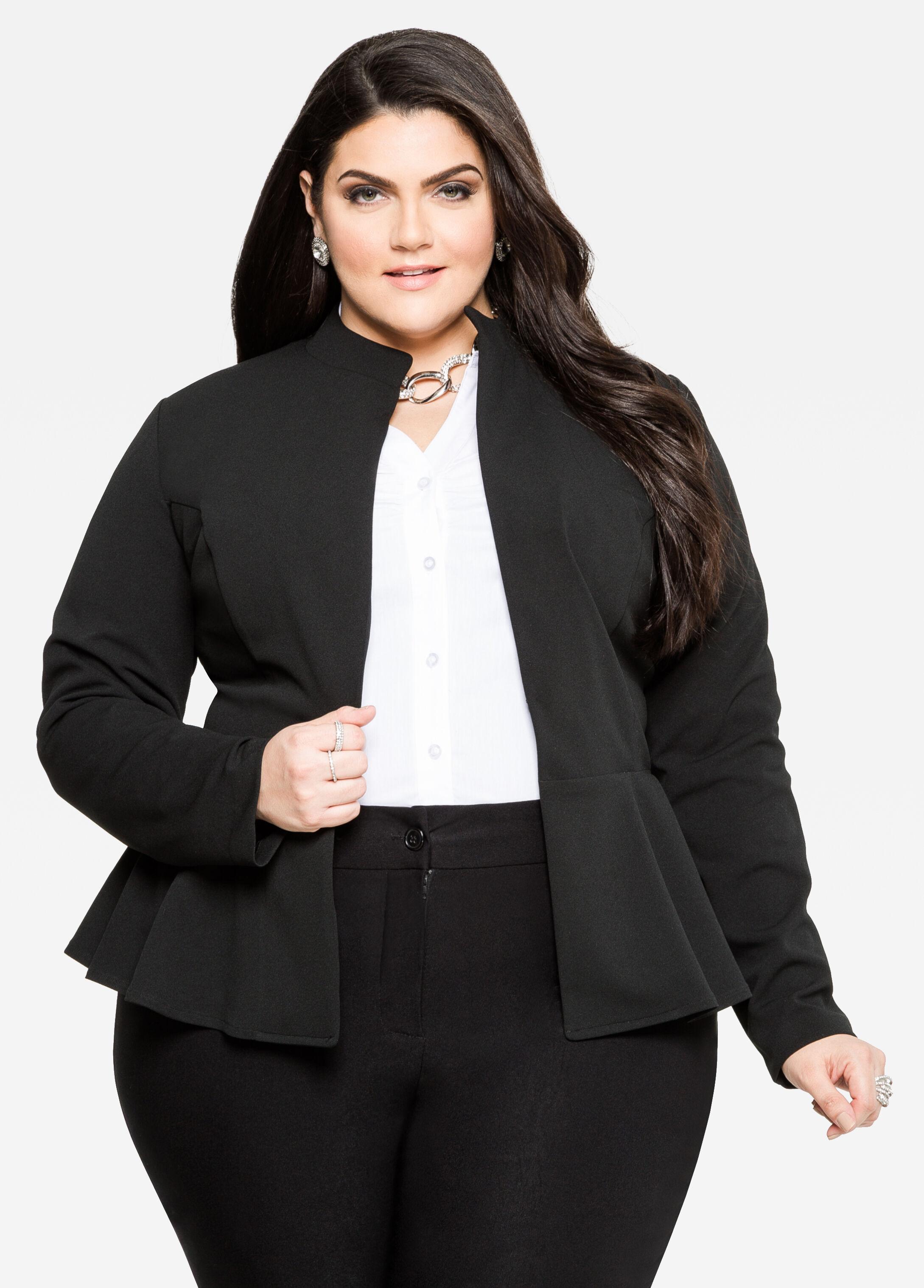 Buy Peplum Jackets for Women Plus Size - Ashley Stewart