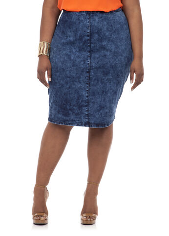 Straight Denim Skirt
