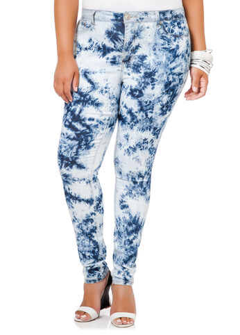 Marble Wash Skinny Jeans