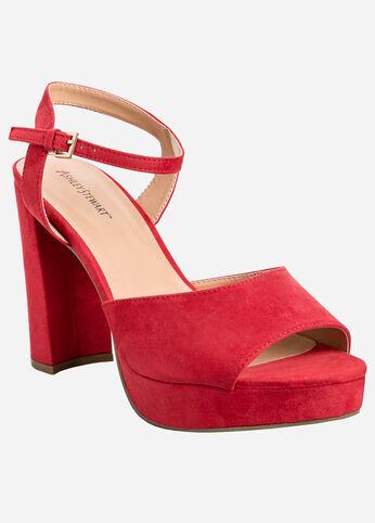 Chunky Platform Heel - Wide Width