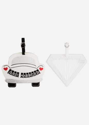 2-Piece Just Married Luggage Tag