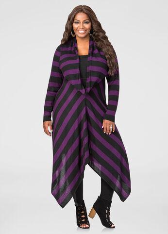Cowl Neck Sharkbite Sweater Dress